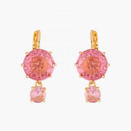 Boucles D'oreilles Dormeuses Boucles D'oreilles Dormeuses 2 Pierres Rondes La Diamantine Rose Pêche60,00€ ALLD126D/1Les Néré...