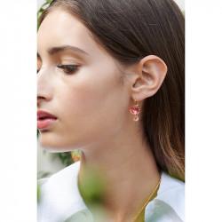 Boucles D'oreilles Pendantes Boucles D'oreilles Tiges 2 Pierres Rondes La Diamantine Rose Pêche60,00€ ALLD126T/1Les Néréides