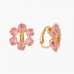 Boucles D'oreilles Clip Petites Créoles Clips 6 Pierres La Diamantine Rose Pêche80,00€ ALLD142C/1Les Néréides