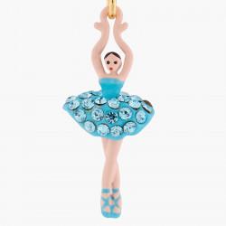 Boucles D'oreilles Pendantes Boucles D'oreilles Tiges Mini Ballerine Tutu Cristaux Aquamarine80,00€ ALMDD101T/16Les Néréides