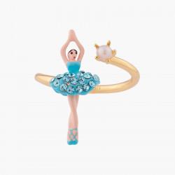 Bagues Ajustables Bague Ajustable Mini Ballerine Tutu Cristaux Aquamarine60,00€ ALMDD601/16Les Néréides