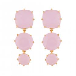 Boucles D'oreilles Pendantes Boucles D'oreilles Tiges 3 Pierres La Diamantine Rose100,00€ ULD136T/2Les Néréides