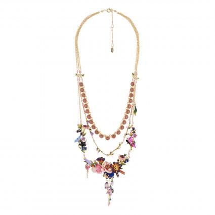 Colliers Plastrons Exclusivité Web: Collier Couture 3 Rangs Bouquet D'un Jardin De Giverny0,00€ AGHI301/1Les Néréides