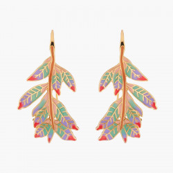 Indian Leaves Hook Earrings