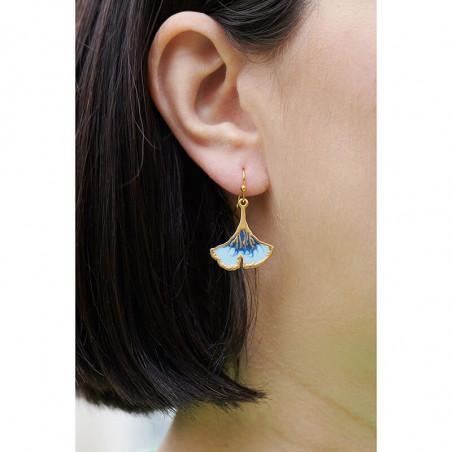 Boucles d'oreilles pierre pierre ronde marbrée