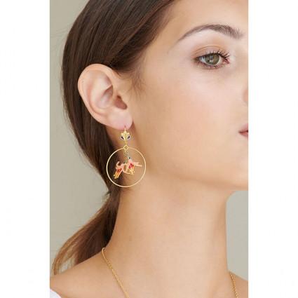 Boucles d'oreilles 4 pierres marbrées