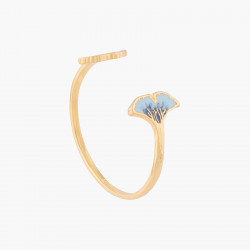 Blue Gingko Bangle Bracelet