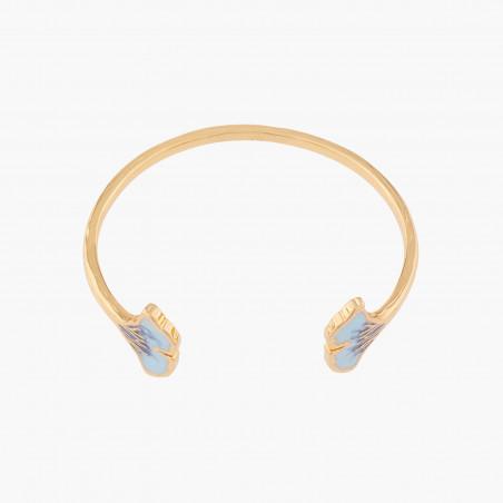 Boucles d'oreilles clip double pierre carrée marbrée