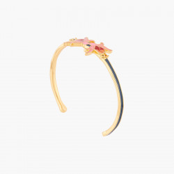 Bracelets Originaux Bracelet Jonc Fleurs Exotiques Fuschia75,00€ ALBE204/1N2 by Les Néréides