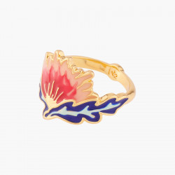 marbled square stone ring