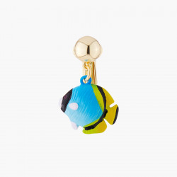 Blue Fish Clip On Earring