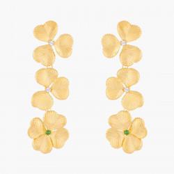 Boucles D'oreilles Clip Boucles D'oreilles Clips Trèfles Et Cristaux150,00€ ALFC101C/1Les Néréides