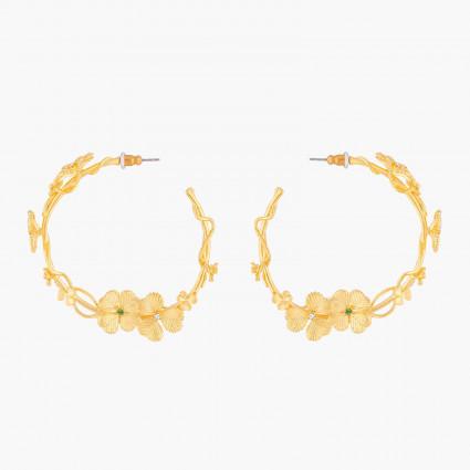 Boucles d'oreilles Fée et pierre reconstituée
