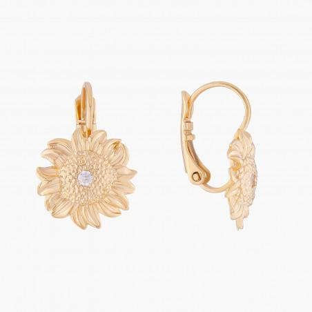Collier nœud, bouton de rose et perle bicolore