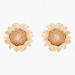 Sunflower Clip On Earrings