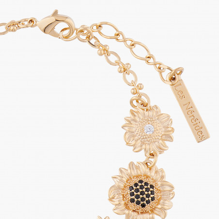 Ears of wheat, poppy and charms couture necklace