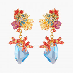Pendientes De Clip Coral Y...