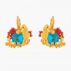 Boucles D'oreilles Clip Boucles D'oreilles Clips Hippocampe Et Cristal Bleue Lagon90,00€ ALPC105C/1Les Néréides