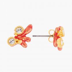 Boucles D'oreilles Tiges Boucles D'oreilles Tiges Corail Rouge Et Cristaux60,00€ ALPC108T/1Les Néréides