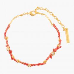 Pulsera Coral Y Cristales