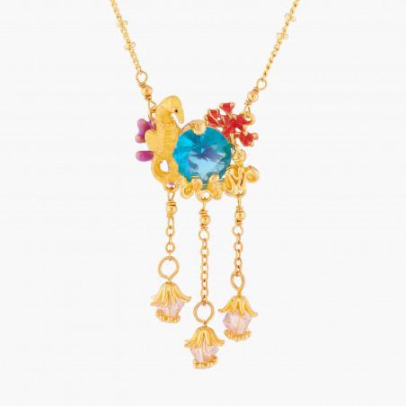 Bracelet chat coquet et pierre rose