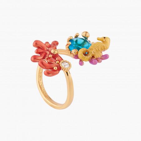 Sautoir chat coquet, pierre rose et pampilles