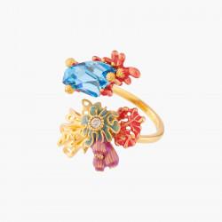 Bagues Ajustables Bague Ajustable Coraux Et Cristal Bleu Lagon130,00€ ALPC604/1Les Néréides