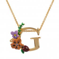 Colliers Pendentifs Collier Alphabet Fleuri Lettre G95,00€ VAL307/1Les Néréides
