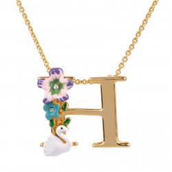 Colliers Pendentifs Collier Alphabet Fleuri Lettre H95,00€ VAL308/1Les Néréides