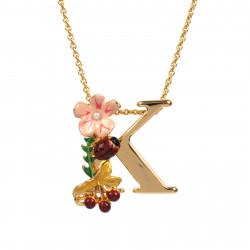 Collar Alfabeto Florido...