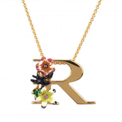 Colliers Pendentifs Collier Alphabet Fleuri Lettre R95,00€ VAL318/1Les Néréides