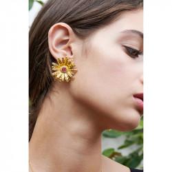 Boucles d'oreilles petite coccinelle et fermoir perlé
