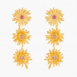 Boucles D'oreilles Pendantes Boucles D'oreilles Tiges Trio De Fleur D'amour95,00€ ALFA106T/1Les Néréides
