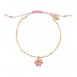 Boucles d'oreilles clip bouquet de fleurs japonais et coccinelle