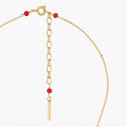 Colliers Pendentifs Collier Pendentif Rouge-gorge Et Pierre Taillée Rouge110,00€ AASB310/1Les Néréides