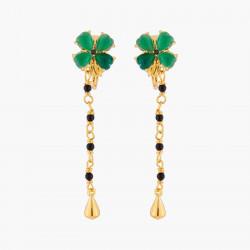 Boucles D'oreilles Clip Boucles D'oreilles Clips Trèfle De Jade Et Chaînes150,00€ ACAB103C/1Les Néréides