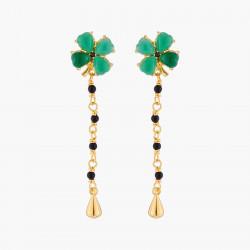 Boucles D'oreilles Pendantes Boucles D'oreilles Tiges Trèfle De Jade Et Chaînes150,00€ ACAB103T/1Les Néréides