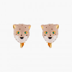 Panther Head Clip-on Earrings