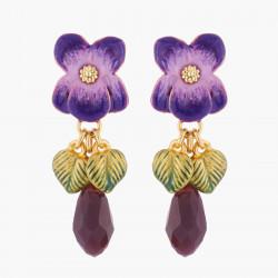 Boucles D'oreilles Pendantes Boucles D'oreilles Tiges Violette Et Pierre70,00€ KVI104T/3Les Néréides