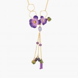 Collier Plastron Violette Y...