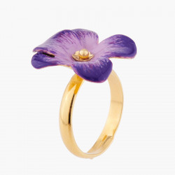 Violet Adjustable Ring