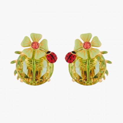 Boucles D'oreilles Clip Boucle D'oreille Clip Fleur Et Coccinelle110,00€ RJE105C/3Les Néréides