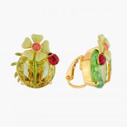 Boucles D'oreilles Clip Boucles d'oreilles clips fleur et coccinelle110,00€ RJE105C/3Les Néréides