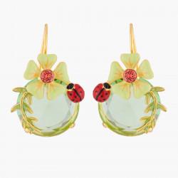 Boucles D'oreilles Dormeuses Boucle D'oreille Dormeuses Fleur Et Coccinelle110,00€ RJE105H/3Les Néréides