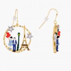Boucles D'oreilles Dormeuses Créoles Hook Amoureux Et Tour Eiffel140,00€ TPA110H/3Les Néréides