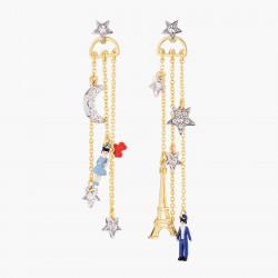 Boucles D'oreilles Pendantes Boucles D'oreilles Tiges Asymétriques Nuit Parisienne160,00€ TPA111T/3Les Néréides