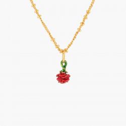 Red Rosebud Pendant Necklace