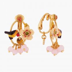 Boucles D'oreilles Clip Boucles D'oreilles Clips Fleur Et Rouge-gorge140,00€ WSO104C/1Les Néréides
