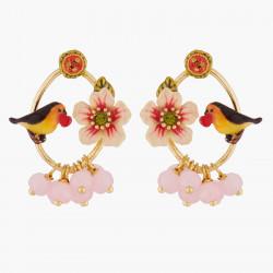 Boucles D'oreilles Creoles Boucles D'oreilles Tiges Fleur Et Rouge-gorge140,00€ WSO104T/1Les Néréides