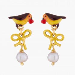 Boucles D'oreilles Pendantes Boucles D'oreilles Tiges Rouge-gorge Et Perles90,00€ WSO110T/1Les Néréides